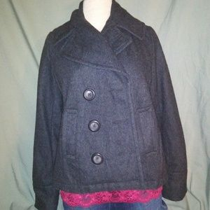 Merona Gray Pea Coat. Size Small.